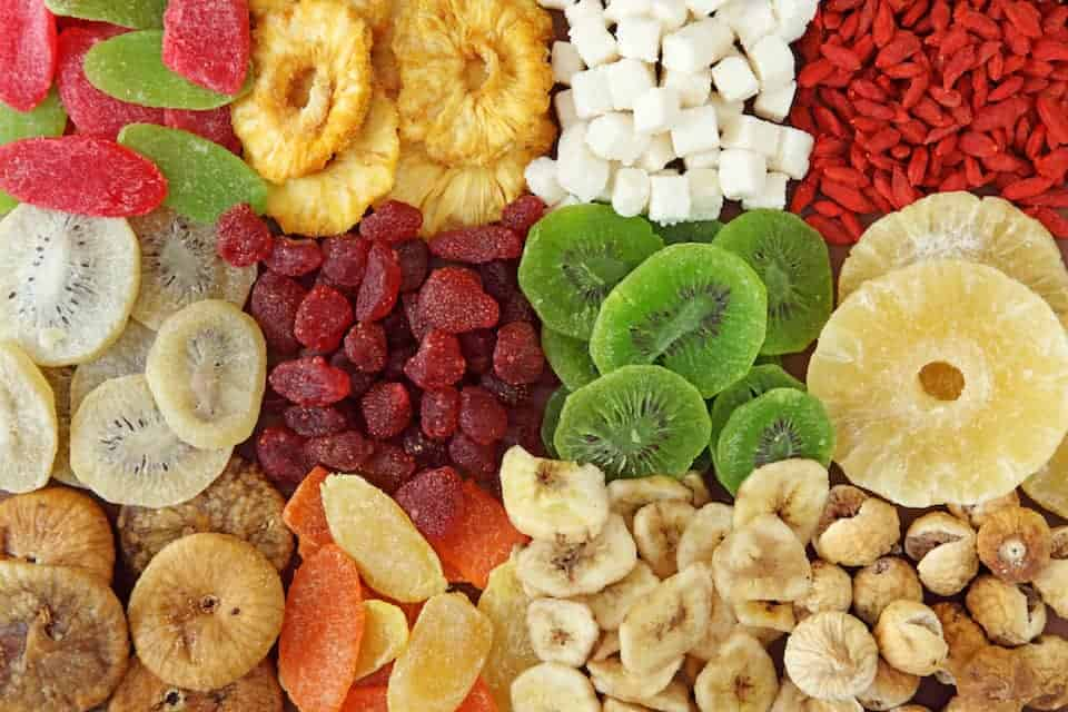 Dried Fruit Sugar Content, low sugar fruits